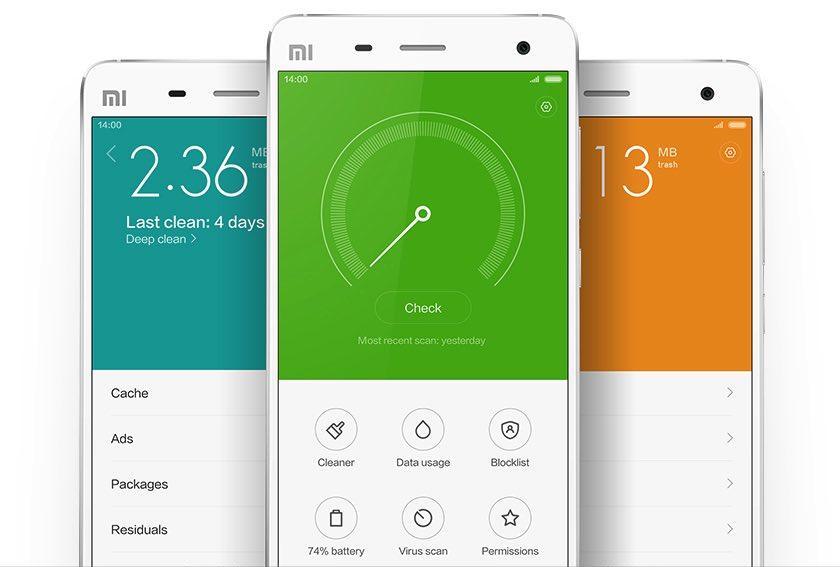 Xiaomi MIUI 6 veiligheid