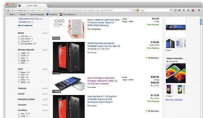 Xiaomi kopen via Ebay