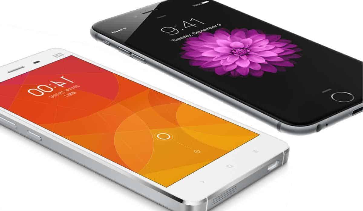 iPhone 6 Plus Xiaomi Mi 4