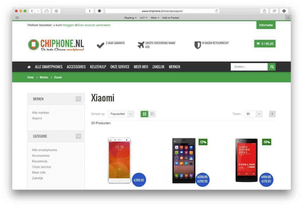 ChiPhone Xiaomi website