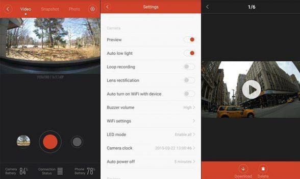 Xiaomi Yi Camera iPhone app nu ook in het Engels beschikbaar