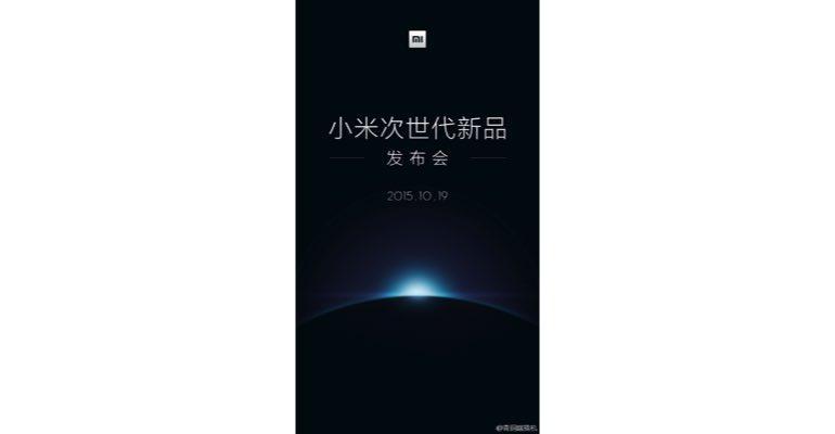 Xiaomi Mi 5 met MediaTek processor wordt op 19 oktober gepresenteerd
