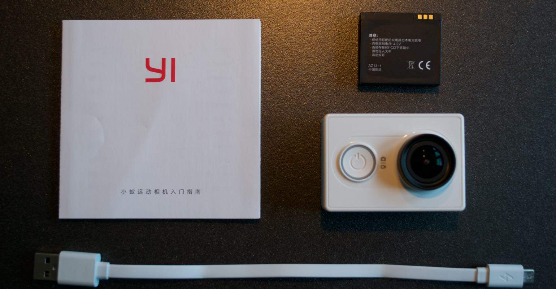 In de doos van de Xiaomi Yi Camera