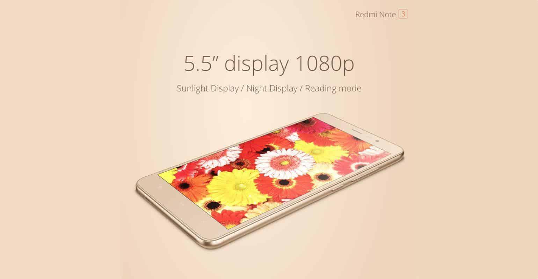 Xiaomi Redmi Note 2 scherm