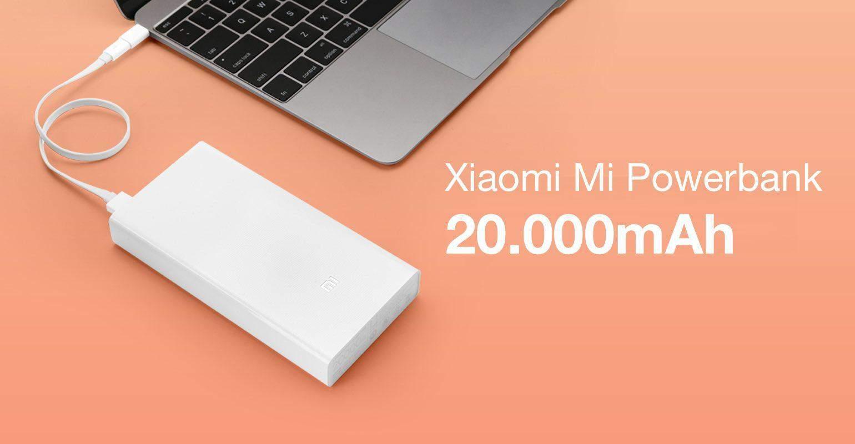 Xiaomi introduceert Mi Powerbank met 20000 mAh capaciteit