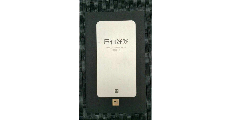Xiaomi plant evenement op 24 november