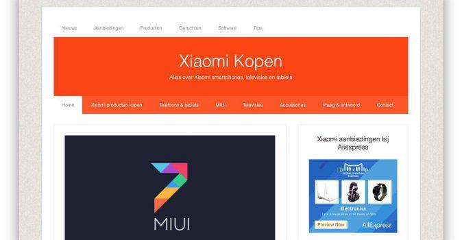 Xiaomikopen.nl heeft een nieuw ontwerp en stel vanaf nu je vraag online!