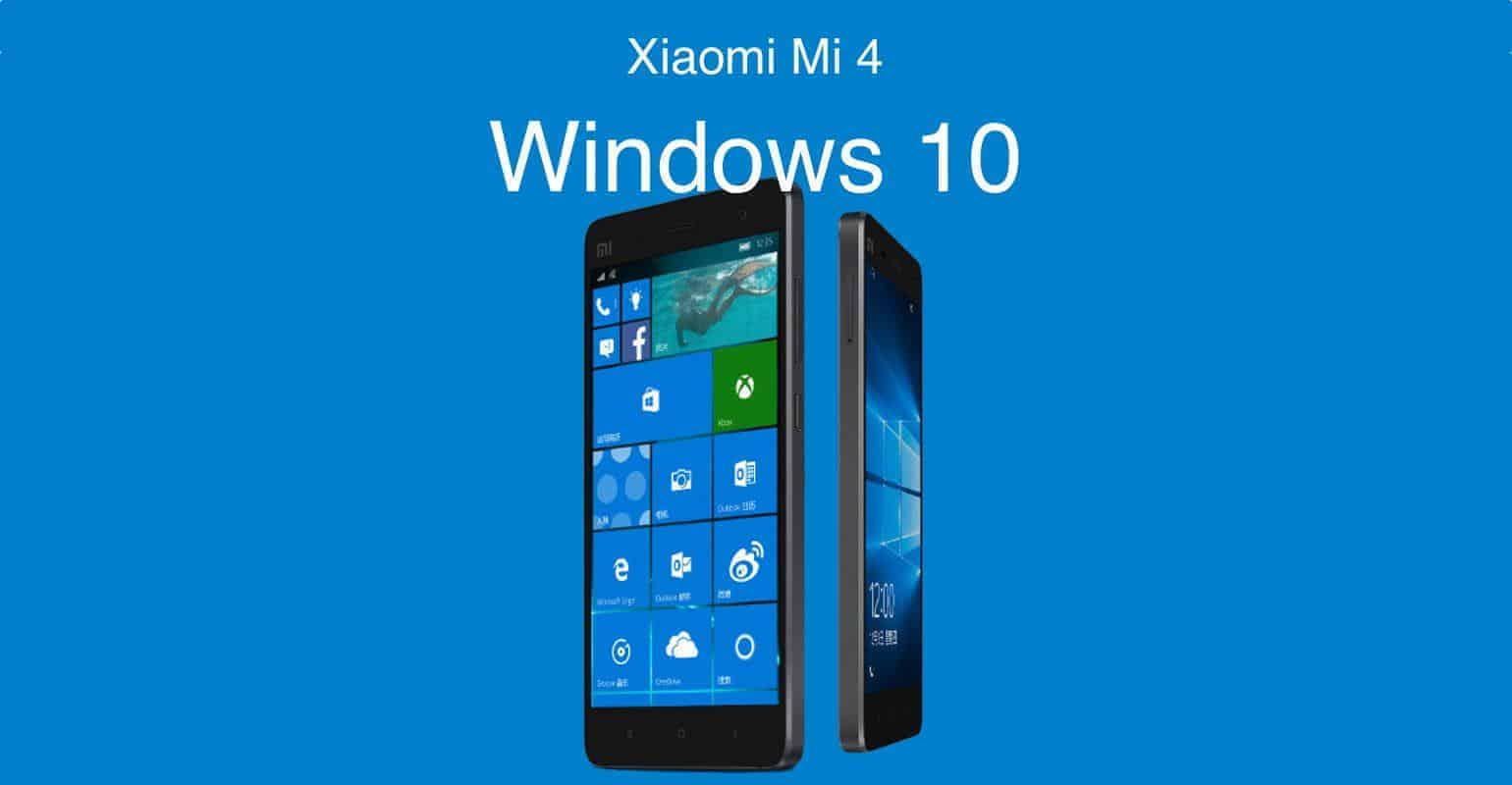 Windows 10 vanaf 3 december te installeren op Xiaomi Mi 4