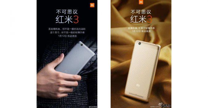 De Xiaomi Redmi 3 is vanaf 12 januari te koop