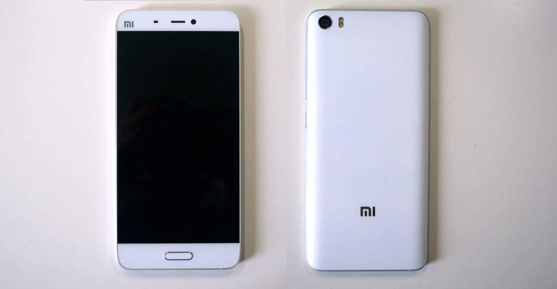 Xiaomi Mi 5 vormgeving