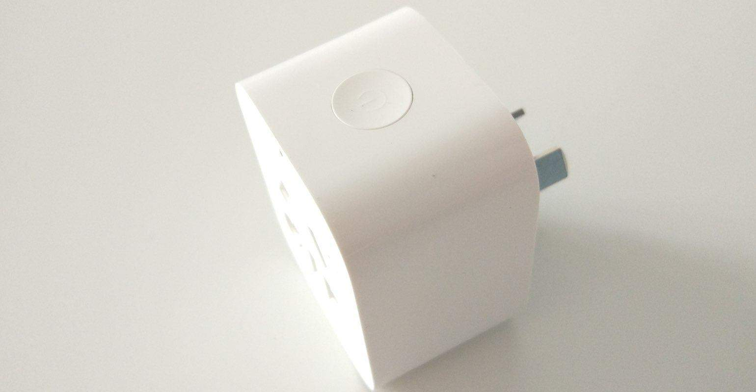 Xiaomi Mi Smart WiFi socket knop