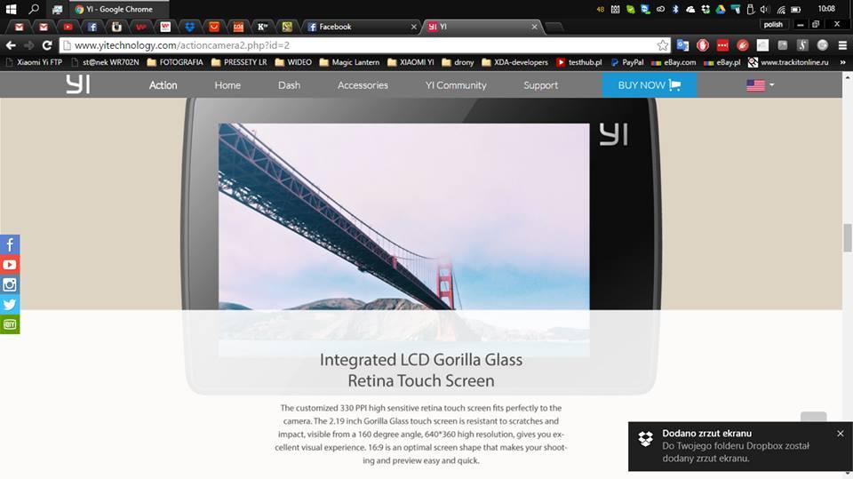 Xiaomi Yi Camera 2K scherm