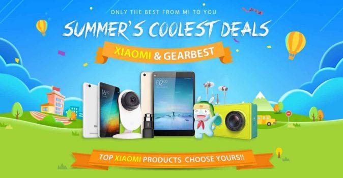 Zomerkorting op veel (Xiaomi) producten bij Gearbest