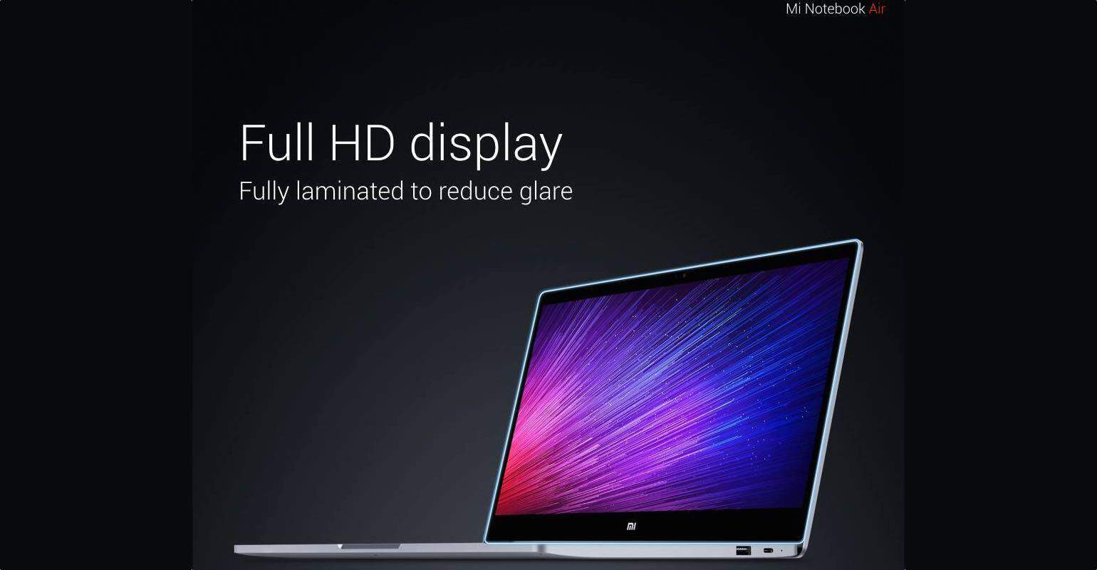 Xiaomi Mi Notebook Air scherm