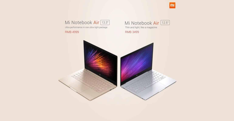 Xiaomi Mi Notebook Air vergelijking