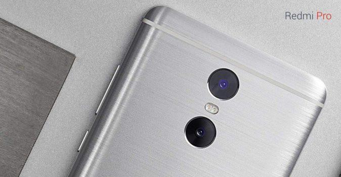 Xiaomi Redmi Pro dubbele camera geborstel aluminium