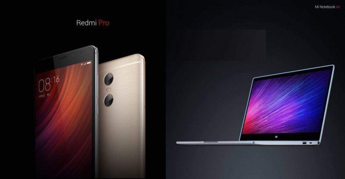 Xiaomi Redmi Pro en Xiaomi Mi Notebook Air zijn vandaag gepresenteerd