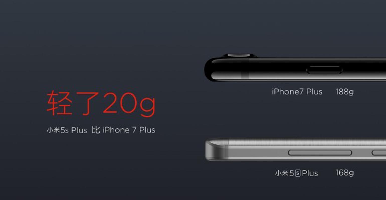 Vergelijking Xiaomi Mi 5s Plus en iphone 7 Plus