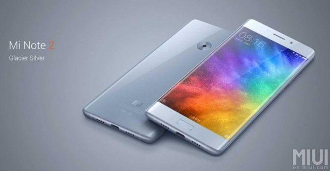 Xiaomi Mi Note 2 phablet.