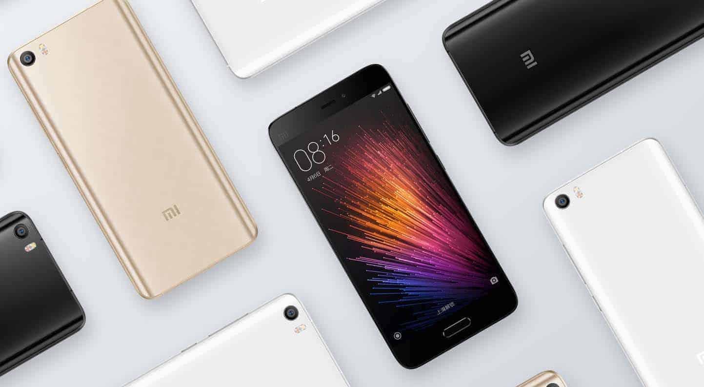Xiaomi Mi 5 toestellen