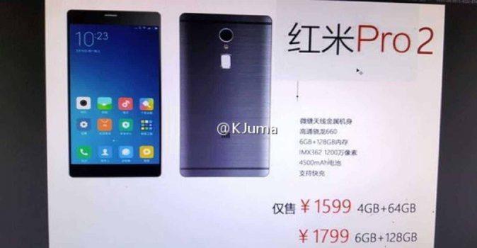 Gelekte foto Xiaomi Redmi Pro 2