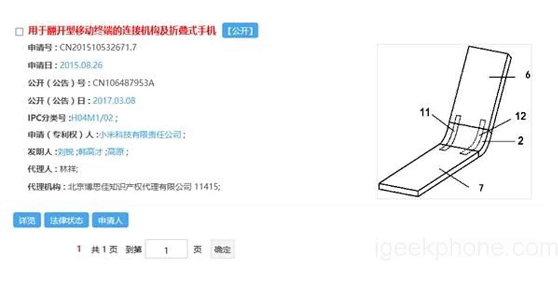Xiaomi opvouwbaar toestel