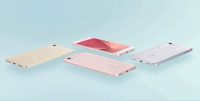 Rosegouden uitvoering van de Redmi Note 5A Xiaomi