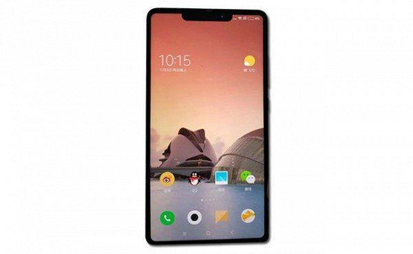Xiaomi Mi Mix 2s het verwachte scherm-ontwerp