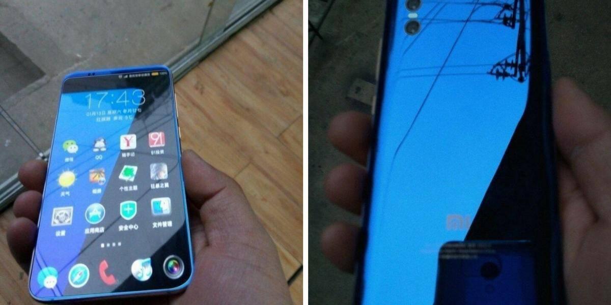 Voorzijde en achterzijde Xiaomi Mi 7