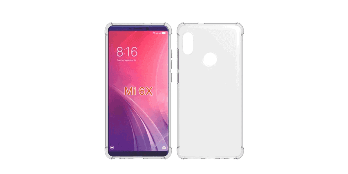 Xiaomi Mi 6X rendered met notch en verticale camerapositie