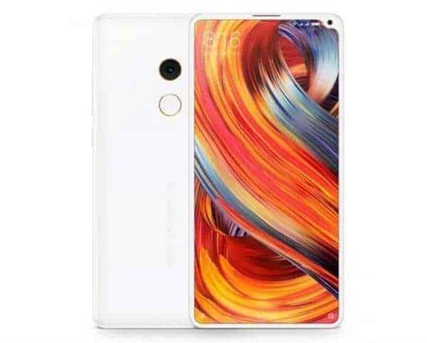Xiaomi Mi Mix 2S, het verwachte uiterlijk van front en backside