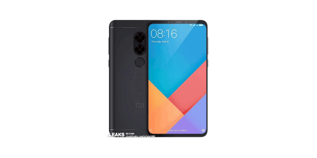 Xiaomi Redmi Note 5 achterkant en voorkant