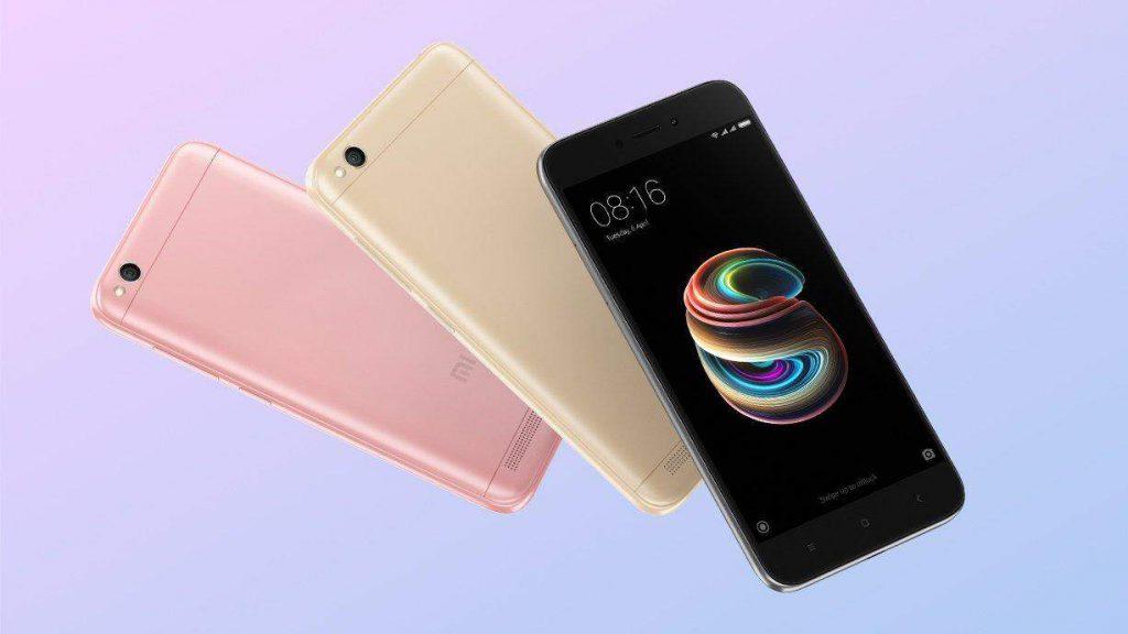 Afbeelding van de uitvoeringen van de Xiaomi Redmi 5A