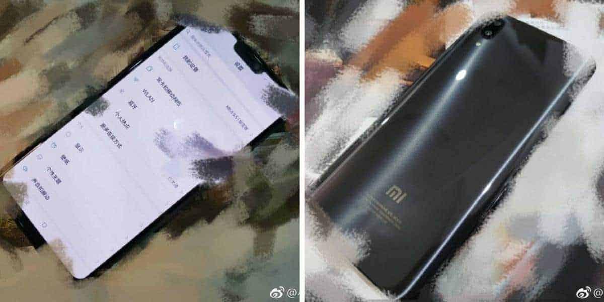 Xiaomi Mi 7 nieuwe voorkant en achterkant