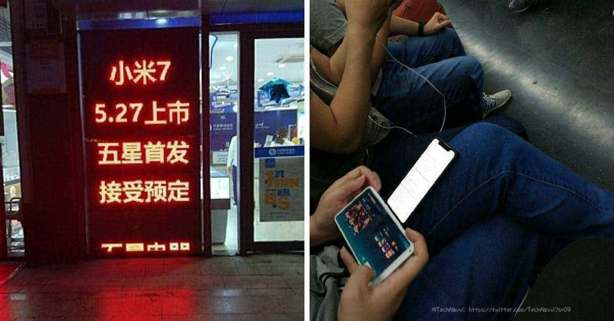 Xiaomi Mi 7 pre-sale en metro