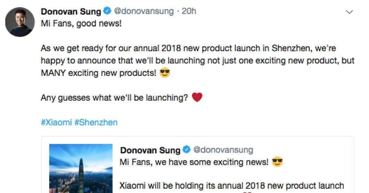 Xiaomi release event 23 mei 2018 met release Xiaomi Mi 7 en Mi Band 3