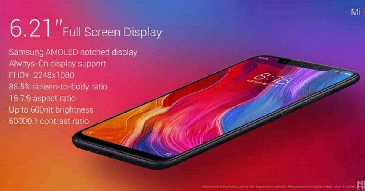 Xiaomi Mi 8 specs voor verkoop