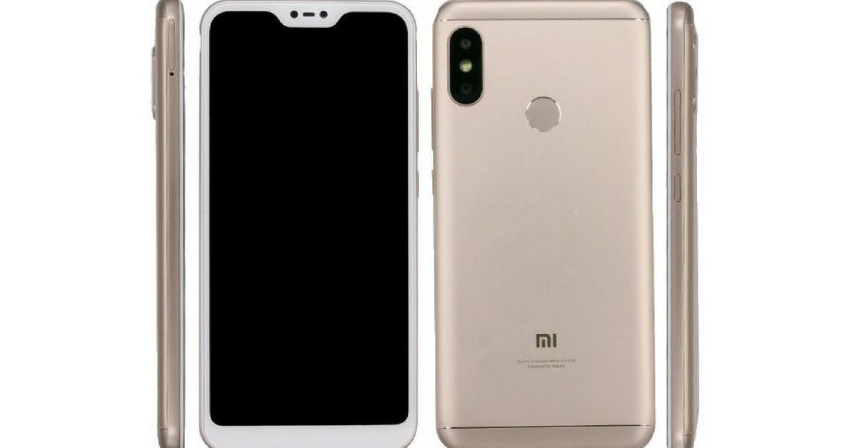 De goudkleurige Xiaomi Mi A2