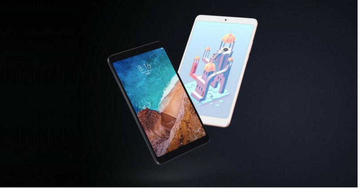 Xiaomi Mi Pad 4 zwart en goud