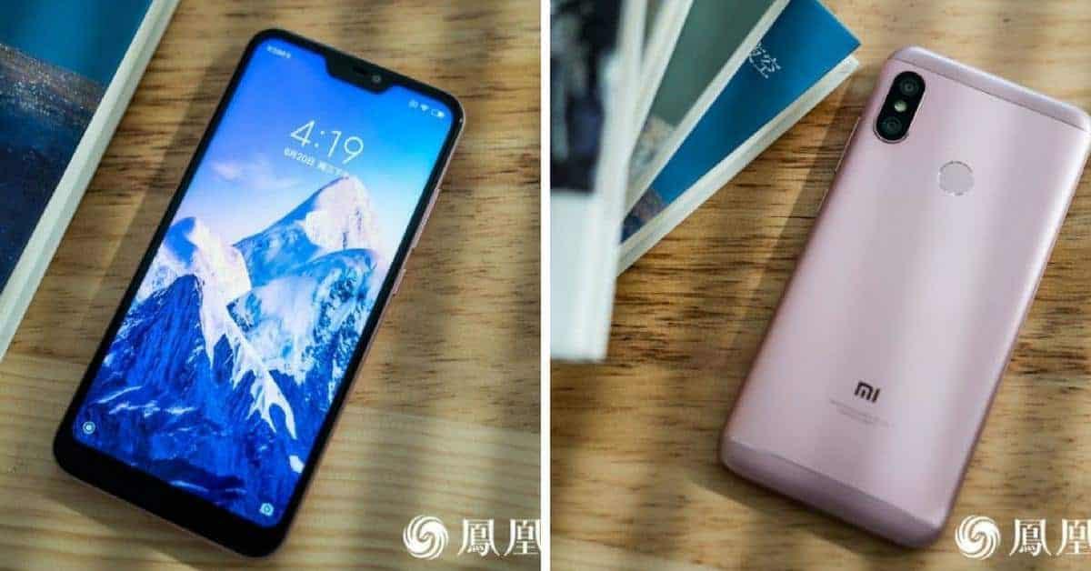 Xiaomi Redmi 6 Pro voorkant en achterkant