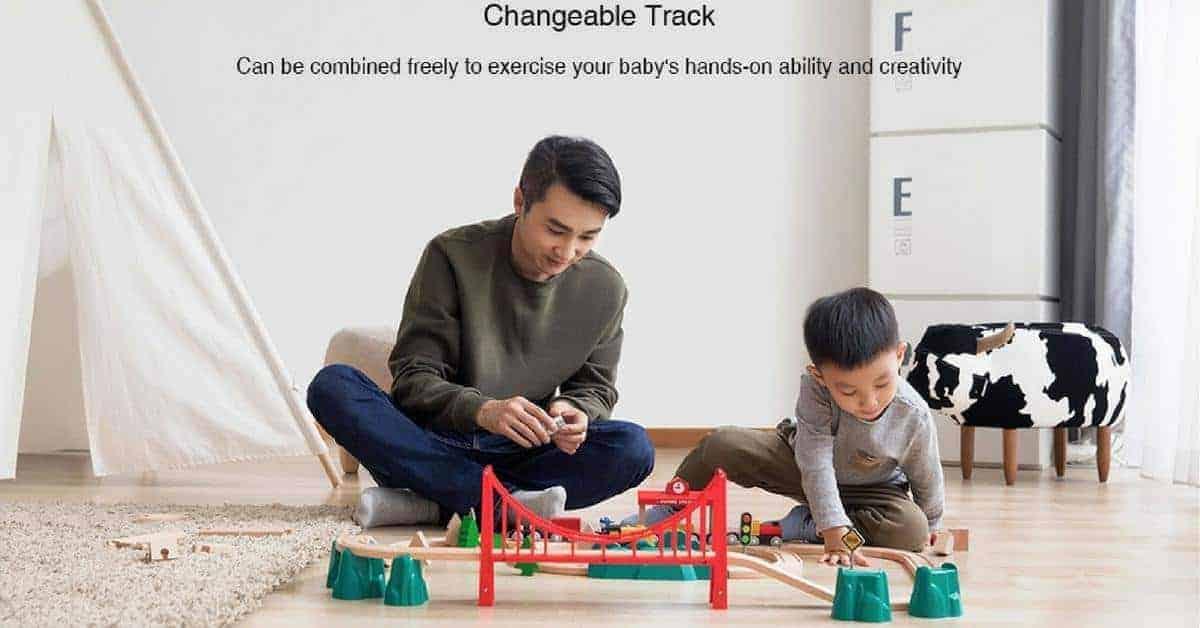 Xiaomi houten treinbaan
