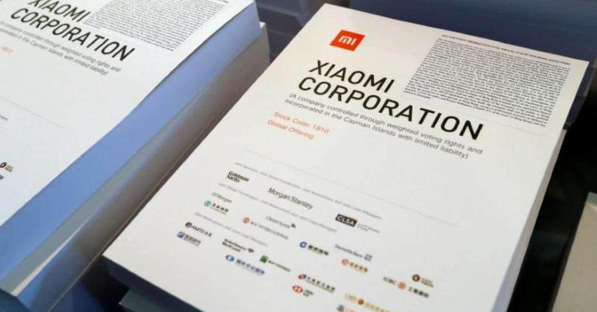 Xiaomi publicatie beursgang