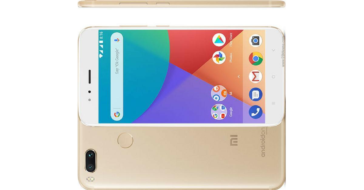 Xiaomi Mi A 1 voorkant en achterkant