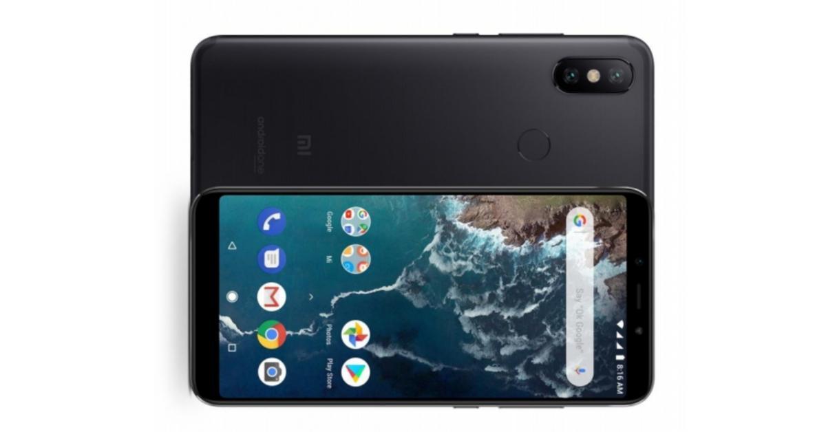 Xiaomi Mi A2 lite voorkant en achterkant zwart