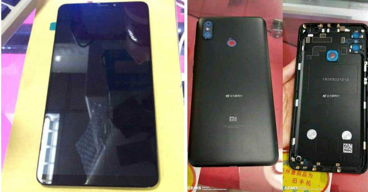 Xiaomi Mi Max 3 voorzijde en achterzijde