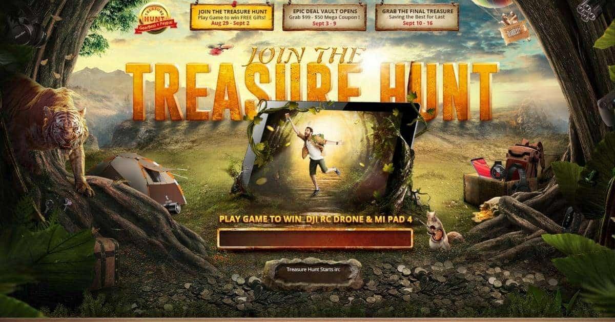 Gearbest en Xiaomi treasure hunt