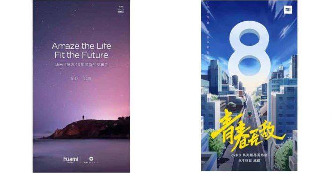 Launch events Xiaomi Huami Amazfit en Xiaomi Mi 8 Youth