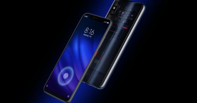 De Xiaomi Mi 8 screen fingerprint