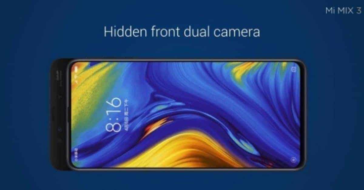 Xiaomi Mi Mix 3 met uitschuifbare cameraslide