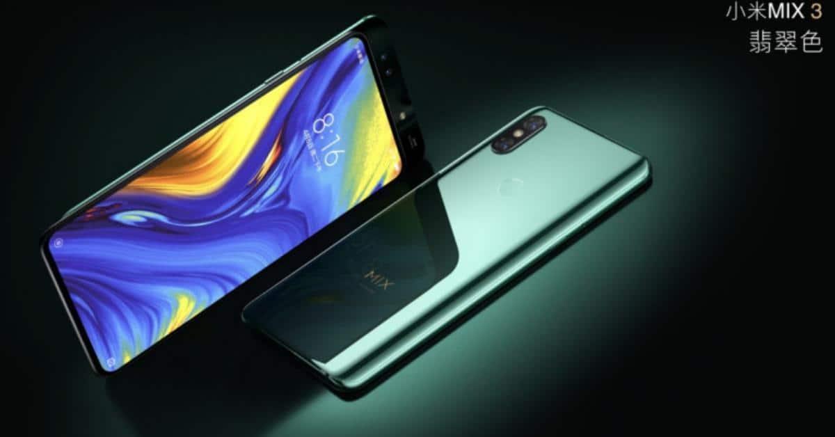 Xiaomi Mi Mix 3 achterkant en voorkant met uitschuifbare cameraslide